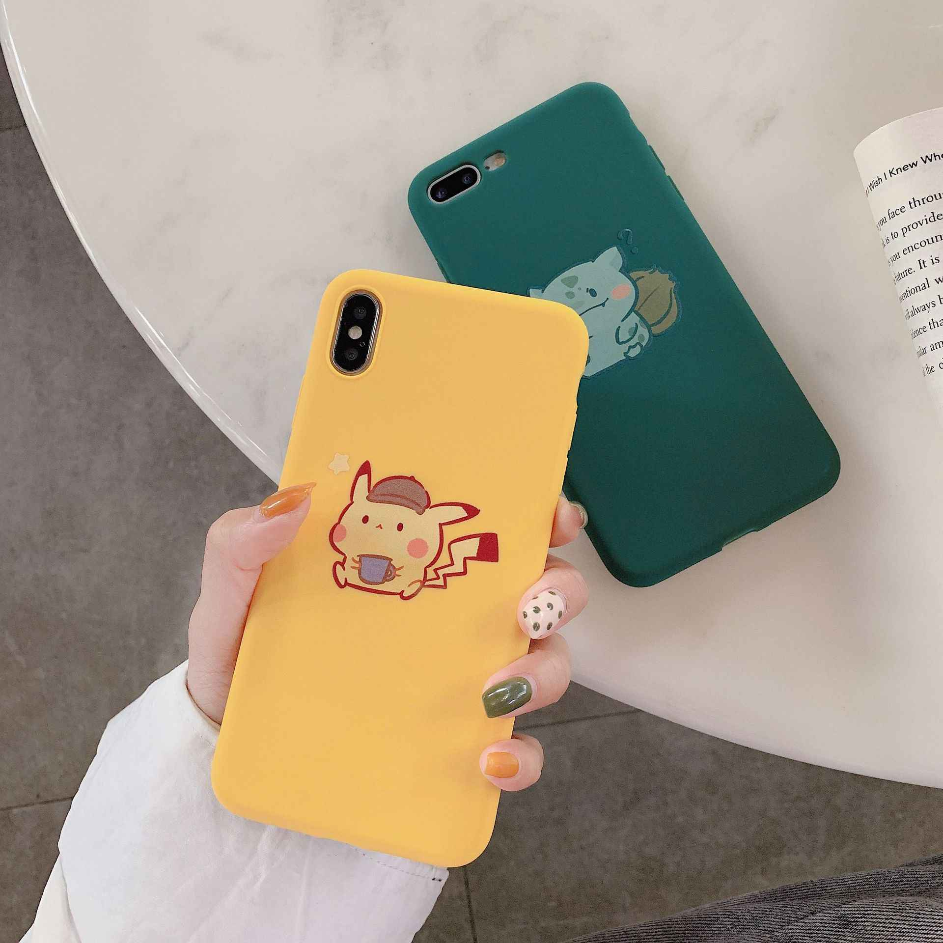 Cute Cartoon Boys Girls Cases Silicon for IPhone Cover X XS Max XR Pokemons Phone Case for Coque IPhone 11Pro Max 7 8 6s 6 Plus