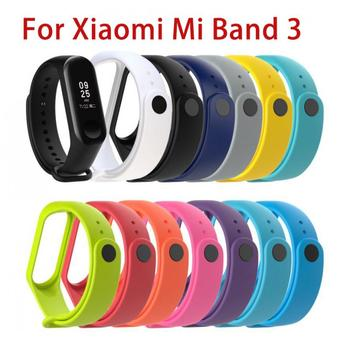 11 Colors Silicone Wrist Strap For Xiaomi Mi Band 3 Sport Strap Watch Strap Replacement Bracelet Accessor Smart Accessories image