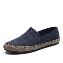 High Quality Espadrilles  Footwear Men's Flat Canvas Shoes Hemp Lazy Flats for Men Moccasins Male Loafers Driving Shoes