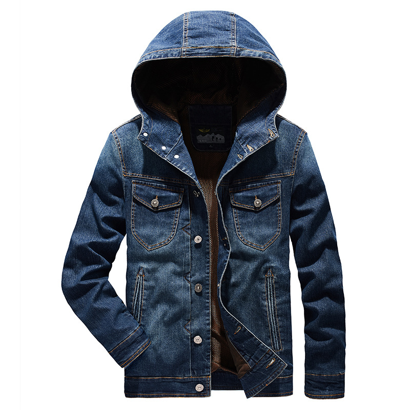 New 2020 Men Jeans Jackets Mens Hooded Coat Autumn Denim Outwear Male High Quality Clothes Fashion Men Streetwear Clothin MY191