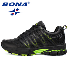 BONA 2019 New Designers Casual Shoes Men Style Cow Split Sneakers Male Lightweight  Outdoor Fashion Footwear Man Trendy Comfy