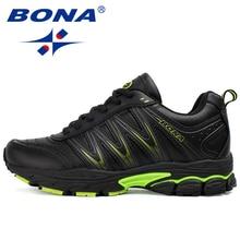 BONA 2019 New Designers Casual Shoes Men Style Cow Split Sneakers Male Lightweig