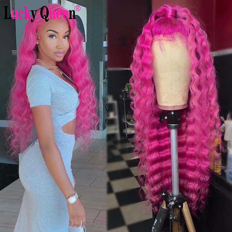 613 Blonde Brazilian Deep Wave 13x4 Lace Wigs Remy Hair 150% Density Lace Front Human Hair Wigs Lucky Queen Wigs image