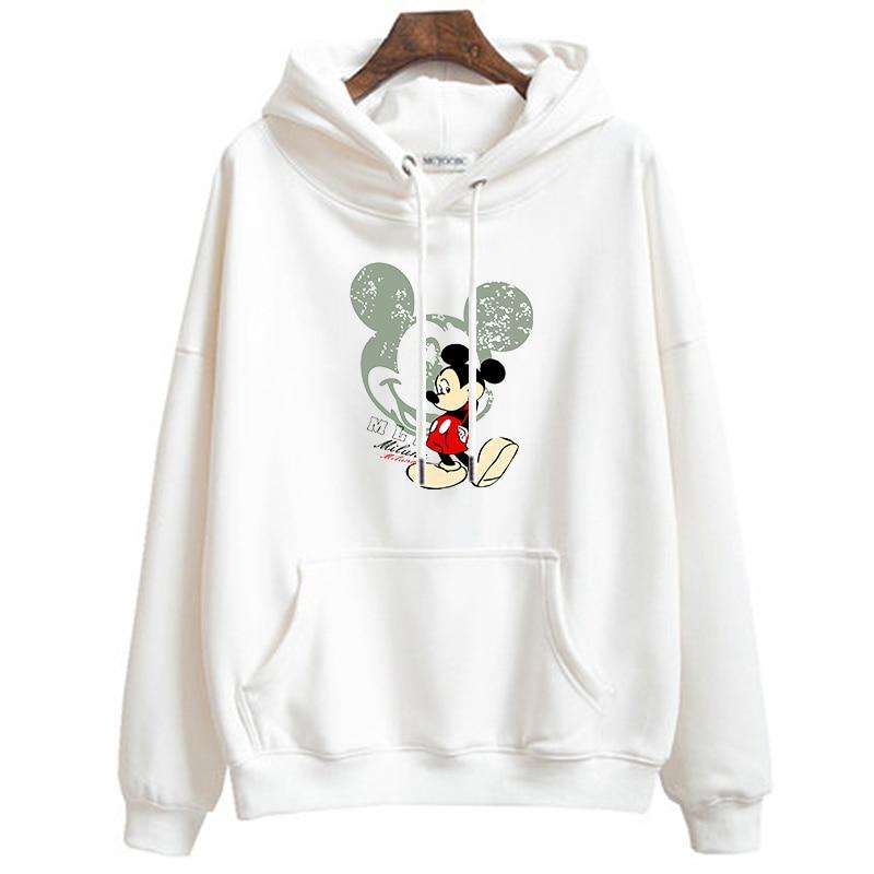 Hoodies Women/Men Hoodie Autumn Clothes Printed Cartoon Mickey Pullover Casual Long Sleeve Streetwear Plus Size Women Sweatshirt