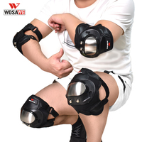 WOSAWE защитныйнаколенник, щитки налокотники Мотоцикл Сноуборд скейтинг гонки внедорожные защитные Звездочка колено Поддержка набор
