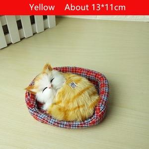 Image 3 - 2019 חדש עיצוב Kawaii סימולציה נשמע שינה חתולים בפלאש צעצוע עם קן האהוב על ילדים יום הולדת מתנה לחג המולד