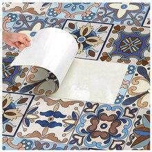 Papier peint autocollant mural Vintage, pour cuisine salle de bains, rétro PVC, carreaux auto-adhésifs étanches, papier de Contact pour armoire