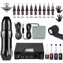 Machine à tatouer rotative professionnelle, stylo à moteur suisse pour maquillage Permanent, kit de Machine à tatouer, moteur puissant et silencieux