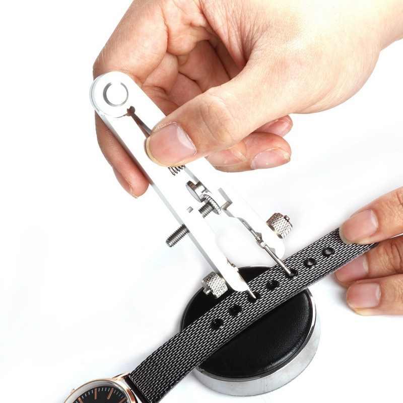 Reloj pulsera Springbar alicates estándar removedor conjunto aleación acero reloj bandas herramienta de reparación removedor con horquilla de 6 pines