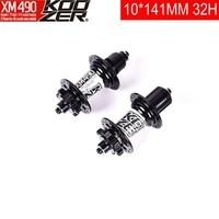 KOOZER 32H Rear Hubs 141*10mm 4 Palin 72 ring MTB Mountain Bike hub QR Quick Release 32 holes For Shimano 8 9 10 11 Speed XD