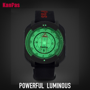 WristBand sighting compass, water proof, Light weight outdoors trekking ,hunting, hiking / with extra powerful luminous compass 2