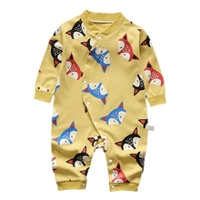Cartoon Autumn Baby Rompers Newborn Infant Clothes For Girls Boys Long Sleeve Jumpsuit Baby Clothing Boy Romper Kids Outfits newborn kids baby rompers i love daddy jumpsuit boys girls romper long sleeve underwear cotton baby boy clothing summer outfits