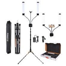 цена на fosoto FT-450 Multimedia Extreme With Selfie Function photographic lighting 3000-6000K Led Video light Phone Camera lamp&Tripod
