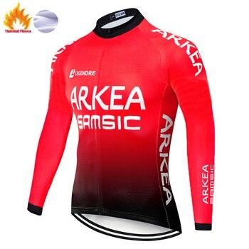 ARKEA-Jersey de ciclismo para hombre, ropa térmica de lana para invierno, 2020