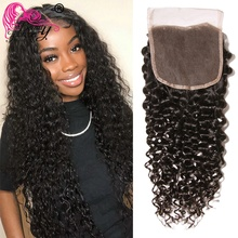 Beauty Forever Malaysian Curly Hair PU Silk Base Closure 4*4 Free/Middle Part 100% Remy Human Hair Lace Closure 10 20 inch