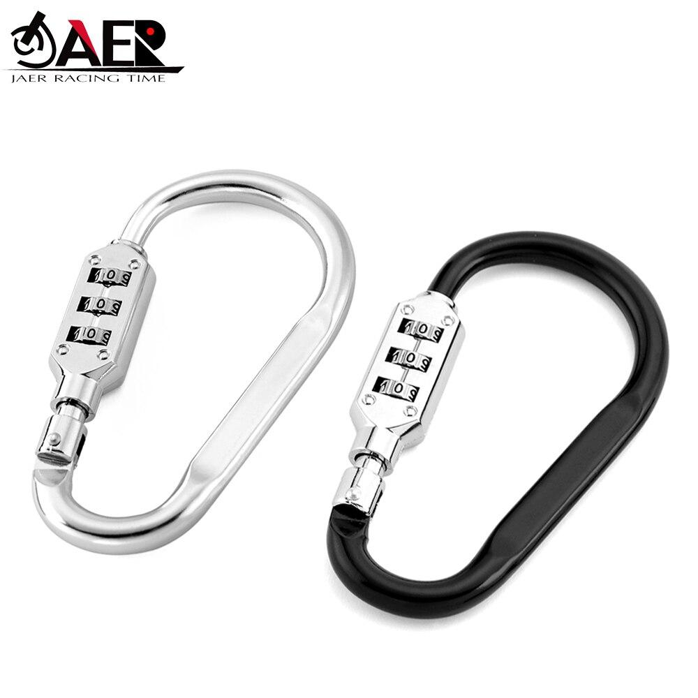 JAER Motorcycle Helmet Lock 3 Digit Combination Lock Cable For Motorcycle Helmets Jacket Luggage Security PIN Locking Chain