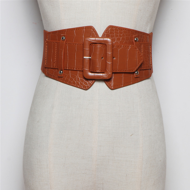 Fashion Corset Belt For Women Solid Metal Buckle 2020 New Design Trendy Causal All-match Waistband Female Leather Hot Sale ZK128