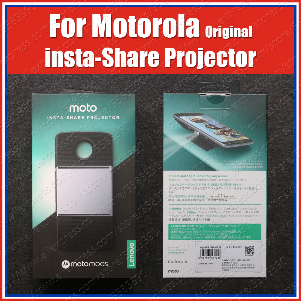 Original Moto Mods Insta-Share Projector For Motorola Motorola Z4 Z3 Play Z2 Force Z Play Droid Magnetic Adsorption