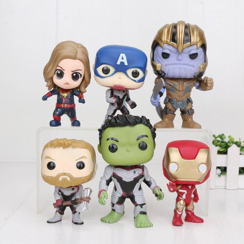 6pcs-set-font-b-marvel-b-font-avengers-figure-toys-q-thanos-iron-man-spider-man-captain-american-hulk-figure-model-toys