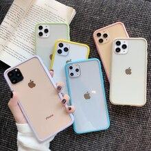 Карамельный цвет волнистая оправа чехол для телефона для iPhone 11 11Pro Max X XR XS Max 8 7 6 6s Plus акриловый прозрачный противоударный чехол