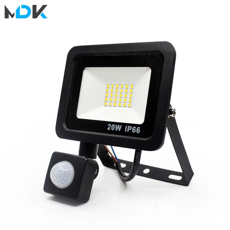 10W 20W 30W 50W 100W Led Flood Light With Adjustable PIR Sensor SMD 2835 Floodlights Outdoor Lighting For Street Square