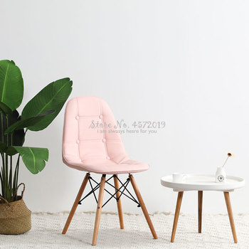 Nordic home books, tables, chairs, backrest makeup chairs, dressing chairs, bedrooms, red chairs, simple modern cloth dining cha