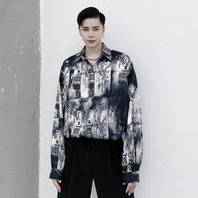 Shirts Men's Clothing Winter Long-Sleeved Fashion Trend And Autumn Print Graffiti-Printed