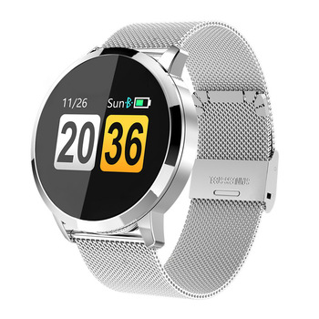 Q8 Smart Watch OLED Color Screen Women Fashion Fitness Tracker Heart Rate Monitor Blood Pressure Oxygen Pedometer Smartwatch
