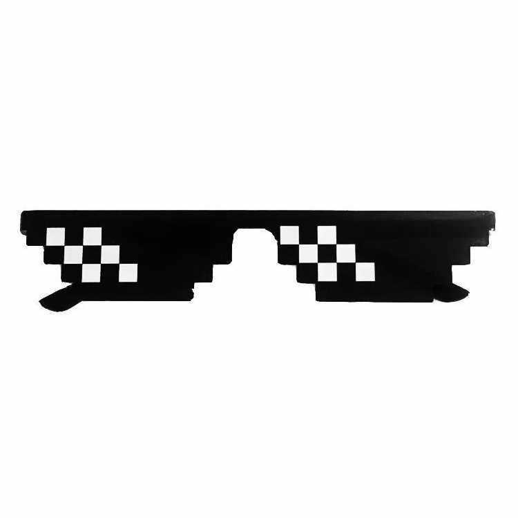 Gag Occhiali Da Sole Mosaico del Giocattolo di Trucco Thug Life Occhiali Trattare Con Esso Occhiali Pixel Donna Uomo Nero Mosaico Occhiali Da Sole Divertente giocattolo