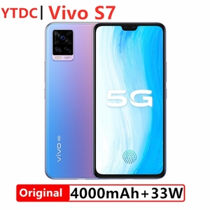 Originial vivo s7 phone 8GB 128GB 5G SmartPhone 4000 mAh 6.44 AMOLED Screen Front 44.00MP Rear 64.00MP Face ID Cell Phone