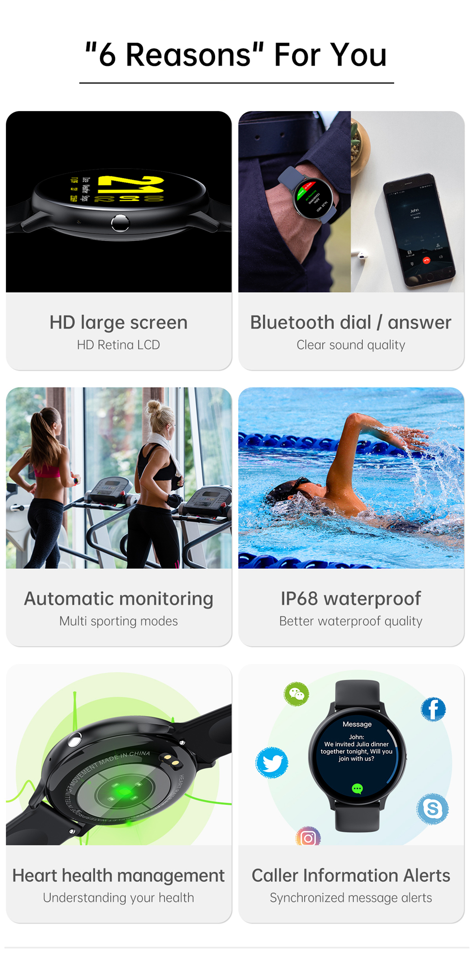 Hfea7a652809746b1a1f024448fe3dcbc2 2021 Bluetooth Call watch Smart watch For men And women Full touch fitness tracker Blood pressure Smart clock ladies Smart watch