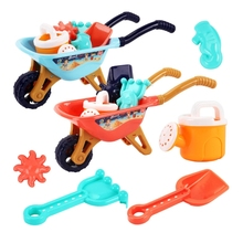 Sand Toys Includes Big Trolley Watering Can,Shovels,Sea Animal Molds,Bucket Sand Boxes for Kids Outdoor