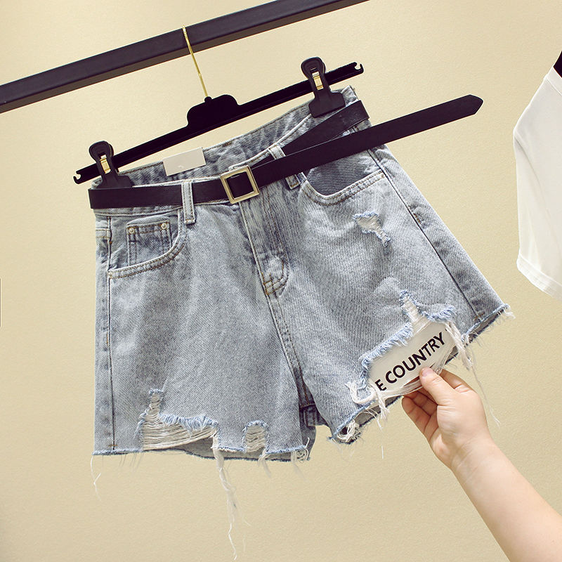 Jean Shorts Plus Size 5xl Shorts Sexy Denim Shorts High Waist Ripped Denim Shorts For Women Jean Shorts With Fringes Summer