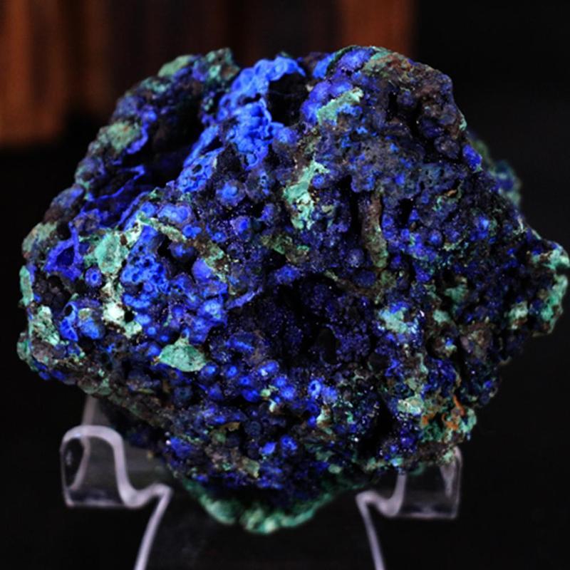 1 Uds Natural malaquita azurita Geode muestra de mineral de cristal piedra de Sanación Reiki UE/1/2/3/pandilla 1 manera Panel de cristal interruptores de luz de la pared de vidrio de interruptor de luz alta táctil sensible de la pared Interruptor táctil, 220V