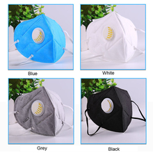10pc PM2.5 Filter Breathing Anti-smog Anti-dust Mouth Mask Anti-odor Windproof Ear-hook  Folding Nonwoven Valved KZ001