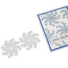 Christmas Snowflake Background Frame DIY Scrapbook Album Paper Card Metal Decoration Embossing Die Cutting Die christmas snowman pattern cutting die for diy