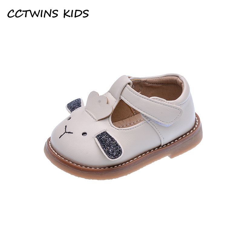 CCTWINS Kids Shoes 2021 Spring Baby Shoes First Walk Shoes Toddler Soft Flats For Girls Fashion Cute Cartoon Flats Black GM2769