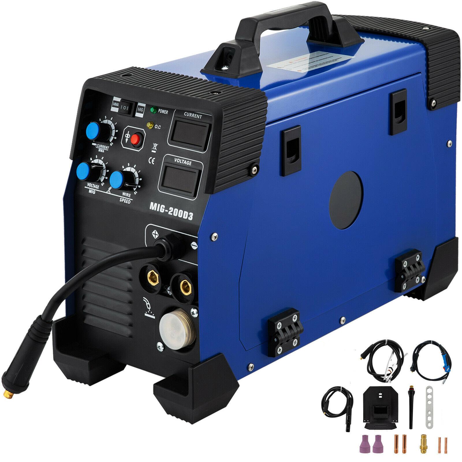 3 In 1 MIG / MAG / TIG / FLUX / MMA Inverter Welder 200Amp Combo Welding Machine