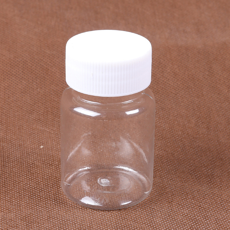 10Pcs 60ml Transparent Plastic PET Refillable Seal Bottles Vials Reagent Store Container Plastic Screw Cap