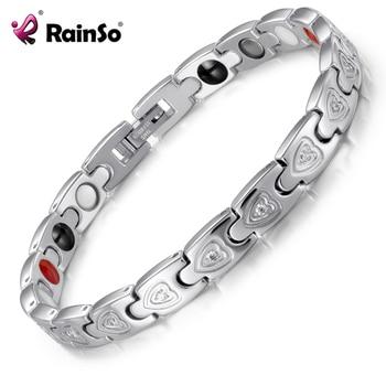 Bio Energy Stainless Steel Gnet Negative Ions Germanium Bracelets Jewelry 1