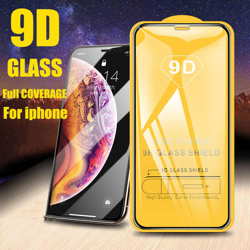 9D Tempered Glass For iPhone 11 Pro MAX 7 8 plus 6 Screen Protector Cover For iPhone 6 6S plus X XR XS MAX Protective Glass Film