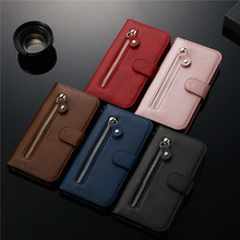 For LG K40 Case Leather Zipper Wallet Flip Cover for LG G8S ThinQ Q8 2018 Q styl