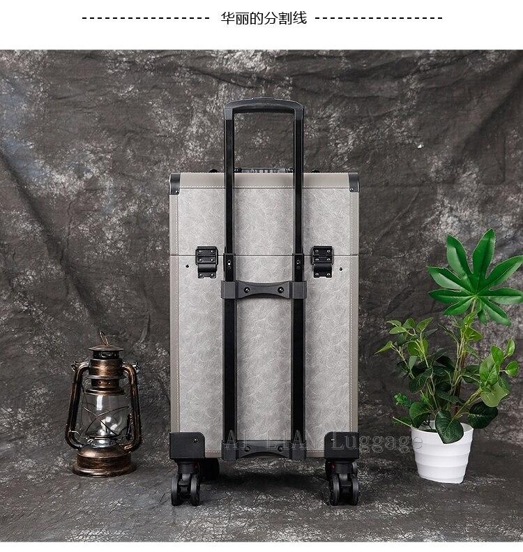 Saco cosmético da bagagem do rolamento do