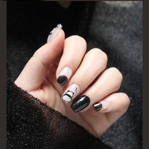 Image 3 - Neue angekommene 3D Nagel Aufkleber Abziehbilder 1 blatt panda kuchen hund Sommer Adhesive Aufkleber Nail art Tattoo Dekoration Z0170