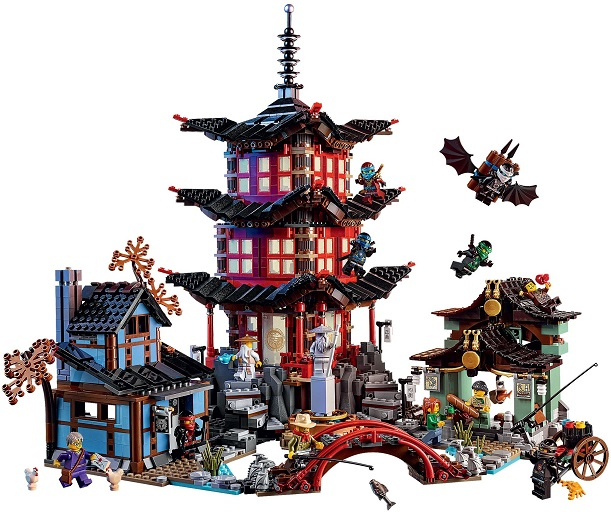 737 Pcs Ninja Temple Diy Building Block Sets Educational Toys For Children Compatible With Lepining Ninjagoes