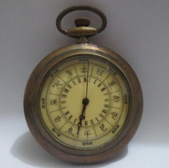 Reloj de bolsillo de trabajo de cuerda de mano mecánico antiguo decorado coleccionable envío gratis