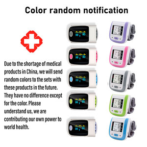 Image 5 - Yongrow medical Fingertip Pulse Oximeter & LCD Wrist Blood Pressure Monitor & Infrared Body Thermometer for Health Care Gift