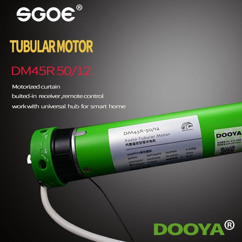 Smart Home Original Dooya Tubular Motor DM45R/DM45S Motor For All Kinds Rolling Blinds 220v 50HZ,RF433MHZ Motor 4-Wire Motor HOT