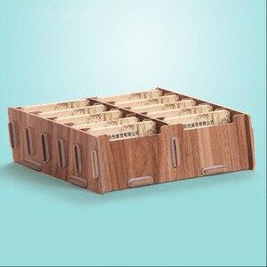 Image 1 - Kreatywne drewniane etui na karty uwaga posiadacze do biurka wizytowniki akcesoria biurowe stojak klip
