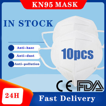 10pcs N95 FFP2 Mask Dustproof Face Mask PM2.5 95% Filtration Bacterial Protective Mask Respirator N95 FFP3 Mouth Masks